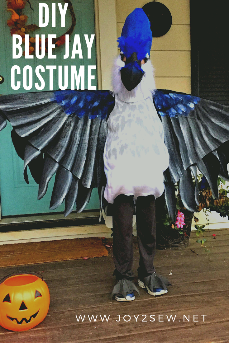 DIY Blue Jay Costume